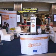 Eveniment in cadrul aeroportului Henri Coanda, Otopeni, in cadrul proiectului european