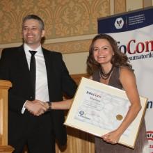 Doamna Mireille Radoi - Director Biblioteca Centrala Universitara Carol I - Ambasador al Miscarii de Protectia Consumatorilor