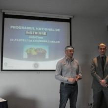 Lansare curs protectia consumatorilor – domeniul financiar bancar - Domnul Sorin Mierlea – Presedinte A.N.P.C.P.P.S.Romania – InfoCons si domnul Alex Moise – Director Volksbank