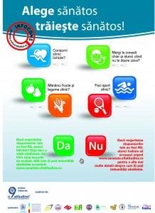 Afis Alege sanatos! Traieste sanatos! - InfoCons - Protectia Consumatorilor