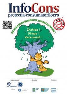 Afis Protejeaza mediul inconjurator, consuma responsabil! - InfoCons - Protectia Consumatorilor