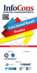 Flyer Cere bonul fiscal! Produs sigur - InfoCons - Protectia Consumatorilor