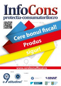afis Cere bonul fiscal! Produs sigur - InfoCons - Protectia Consumatorilor