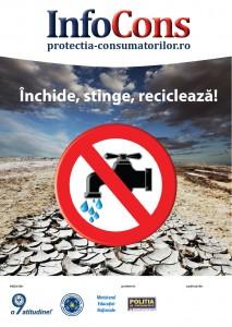 Stop risipei! Inchide, stinge, recicleaza! - InfoCons - Protectia Consumatorilor