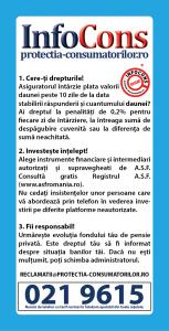 flyer Centrul National de Consiliere si Consultanta a Consumatorilor in Domeniul financiar - nebancar  -  Cere-ti drepturile! Investeste intelept! Fii responsabil! - InfoCons