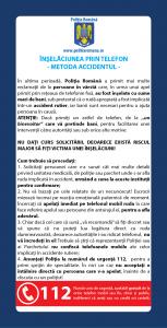 flyer Inselaciunea prin telefon! Metoda accidentul pentru batrani! - InfoCons - Protectia Consumatorilor