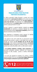 flyer Inselaciunea prin telefon! Metoda accidentul pentru tineri! - InfoCons - Protectia Consumatorilor