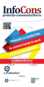 flyer Plateste cu cardul tau la comercianti in tara si in strainatate - InfoCons - Protectia Consumatorilor