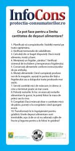 flyer STOP risipei de alimente! Alege sanatos! Traieste sanatos! - InfoCons - Protectia Consumatorilor