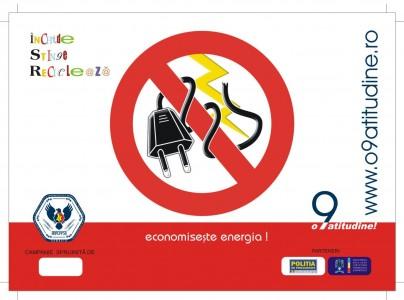 sticker Stop risipei! Inchide, stinge, recicleaza! Economiseste energia - InfoCons - Protectia Consumatorilor