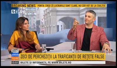 Domnul Sorin Mierlea la postul de televiziune B1TV