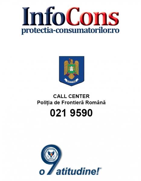 Telefonul consumatorului Poliția de Frontieră - 021 9590
