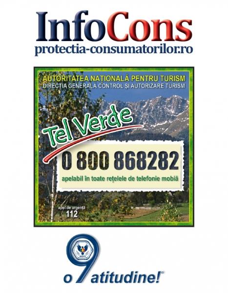Telefonul consumatorului Turism - 0800 868 282