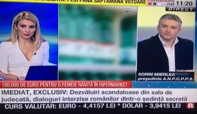 Domnul Sorin Mierlea la postul de televiziune Romania TV
