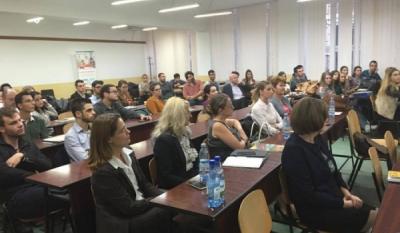 Reprezentantii InfoCons participa in acest moment la Conferința de finalizare a proiectului `Bursa locurilor de practică`