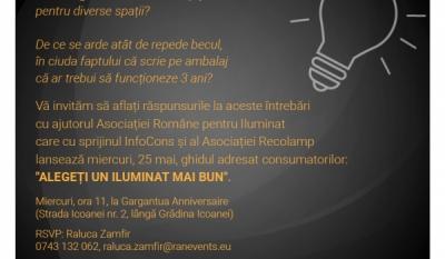"""Reprezentanții InfoCons participă la evenimentul de lansare a ghidului """"Alegeți un iluminat mai bun!"""""""