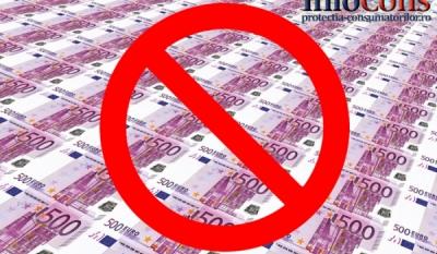 Bancnota de 500 Euro scoasa din productie