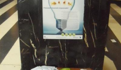 "Diseminare materiale educativ - informative in cinematograful Patria pentru campania ""Economiseşte pentru tine! Economiseşte pentru mâine!"""