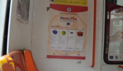Diseminare materiale educativ-informative in cadrul mijloacelor de transport public in comun in Municipiul Bucuresti pentru proiectul European DOLCETA