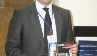 Domnul Sorin Mierlea, Presedintele InfoCons cu ocazia lansarii primului numar al revistei de Teste Comparative InfoCons
