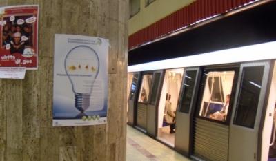 """Diseminare materiale educativ-informative in cadrul mijloacelor de transport public in comun in Municipiul Bucuresti pentru campania """"Economiseşte pentru tine! Economiseşte pentru mâine!"""""""