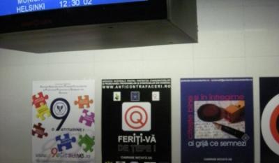 Diseminarea materialelor educativ-informative InfoCons in Aeroportul Henri Coanda din Bucuresti in cadrul retelei Info EU-RO.