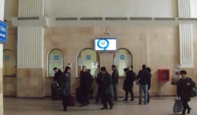Diseminare de materiale educativ-informative InfoCons, asociatie de consumatori, panouri indoor Gara de Nord – Bucuresti