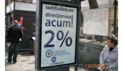 """Promovarea Campaniei Nationale """"o9atitudine!"""" pe suport outdoor in statiile RAT – Brasov"""