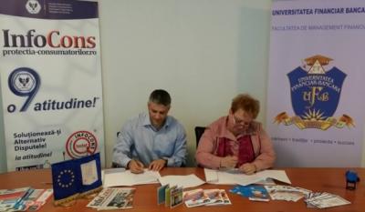 InfoCons a semnat un Protocol de Colaborare cu Universitatea Financiar – Bancara