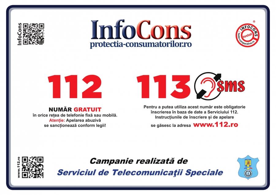 112 - 113 - Numere de urgență obligatoriu de afișat