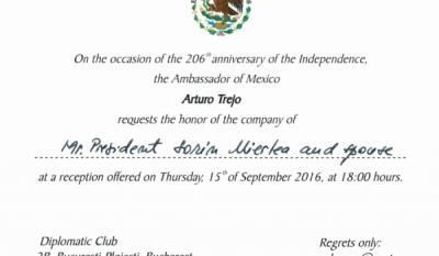 206 ani de la Independenta Mexicului