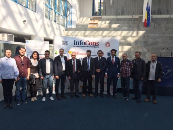 TRACORE - Vizită de studiu la InfoCons - Organizație pentru Protecția Consumatorilor