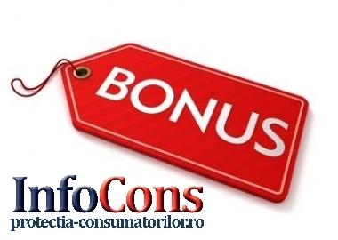"""Stiati ca… Folosirea termenului """"bonus"""" este o practică comercială interzisă?"""
