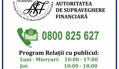 Telefonul Consumatorului - Autoritatea de Supraveghere Financiară