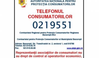 Telefonul Consumatorului - Autoritatea Națională pentru Protecția Consumatorilor