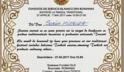 Reprezentanții InfoCons participă la Târgul de Produse Tradiționale organizat de Fundația de Servicii Islamice din România