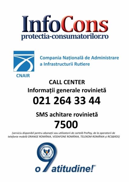 Telefonul consumatorului Autostrăzi și Drumuri - 021 264 3344