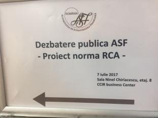Reprezentanții InfoCons participă la dezbaterea publică a Proiectului de Normă privind asigurările auto din România
