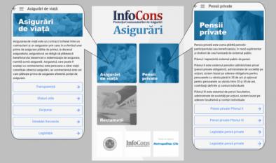 Instalează aplicația InfoCons Asigurări și află tot ce trebuie să știi despre asigurări de viață și pensii private!