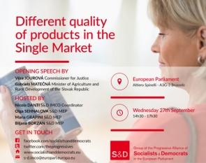 """Președintele InfoCons, Sorin Mierlea, participă la Conferința """"Different quality of products in the Single Market"""", Parlamentul European"""