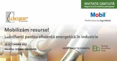 """Președintele InfoCons, Sorin Mierlea, participă la conferința """"Mobilizăm resurse! Lubrifianți pentru eficiență energetică în industrie."""""""