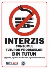InfoCons trage un semnal de alarmă și propune interzicerea cât mai urgență a consumului oricărui tip de tutun în locațiile proprii!