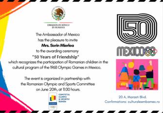 Președintele InfoCons participă la ceremonia organizată de Ambasada Mexicului