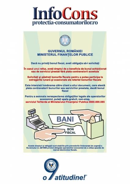 Ministerul Finantelor Publice 0800.800.085 – Telefonul Consumatorilor - InfoCons