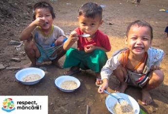 Prin consumul rațional de alimente putem ajuta alte persoane care nu au cu ce se hrăni !