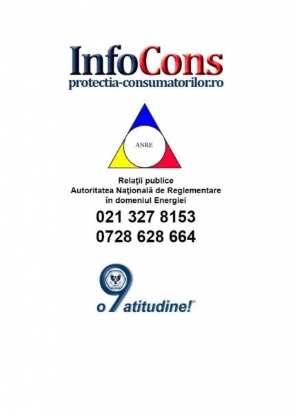 Autoritatea Naţională de Reglementare în domeniul Energiei - Protectia Consumatorilor - InfoCons