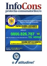 Autoritatea Nationala Sanitara Veterinara si pentru Siguranta Alimentelor – 0800.826.787 – Telefonul Consumatorilor