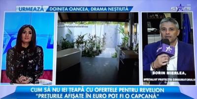 Domnul Sorin Mierlea în direct la postul de televiziune Antena Stars