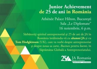 """Domnul Sorin Mierlea participă la evenimetul aniversar """"Junior Achievement de 25 de ani în România"""""""