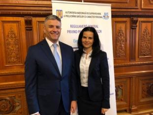 Domnul Sorin Mierlea, participă în calitate de speaker la conferința organizată de Autoritatea Națională de Supraveghere a Prelucrării Datelor cu Caracter Personal